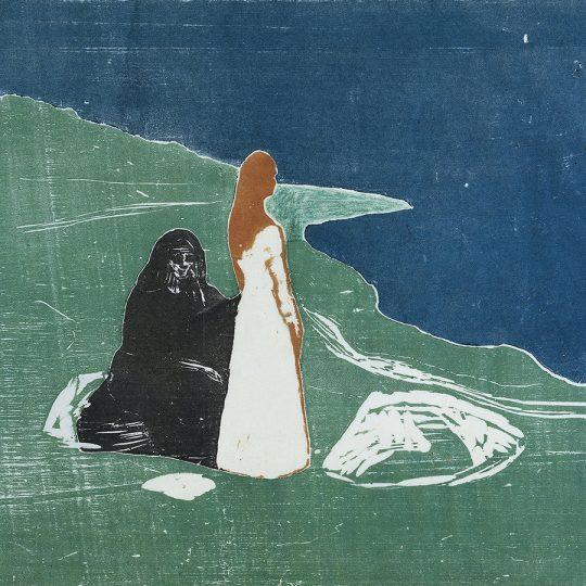 capa de calmaria, xilogravura de Munch.